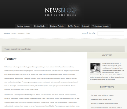 Contact Page of eNews