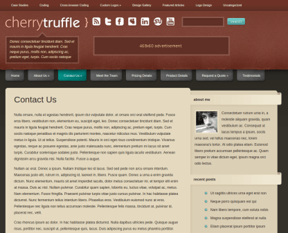 Contact Us Page of CherryTruffle