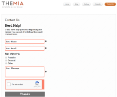 Contact Us Page of Themia