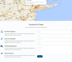 Contact page  of Stratus