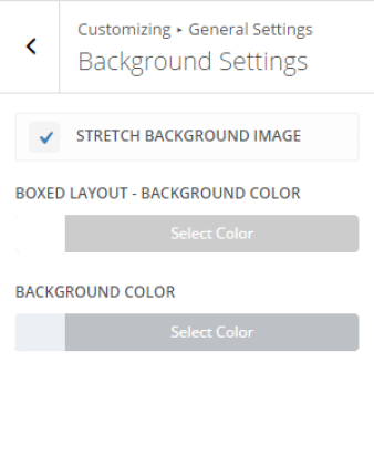 Extra - Customize General Settings - Background settings