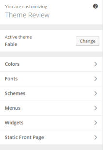 Fable - Live customizer