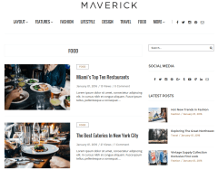 Food Page of Maverick
