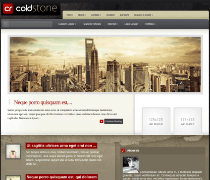Home Page of ColdStone