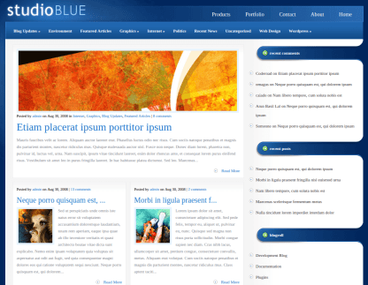 Home Page of StudioBlue