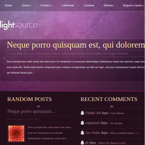 LightSource WordPress Theme
