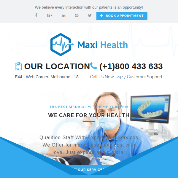 Maxi Health – Responsive Medical WordPress Theme
