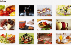 Nutrition – Gallery page layout