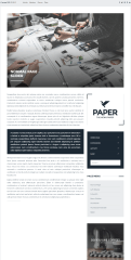 Paper – homepage with slider