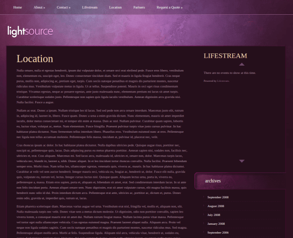 Partner Page of LightSource