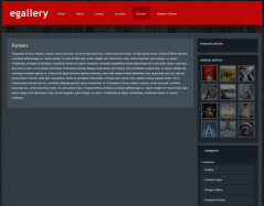 Partner Page of eGallery