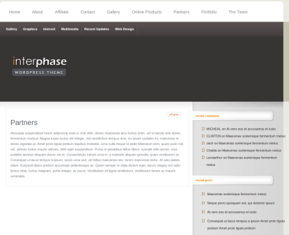 Partners Page of InterPhase
