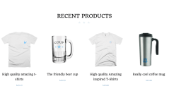 Recent Product Section of COUP