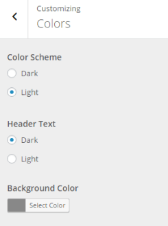Resurrect - Live customizer color settings