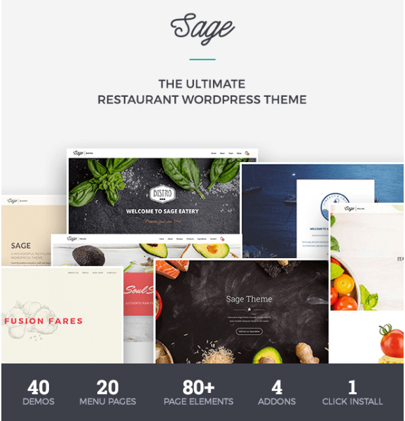 Sage – Restaurant WP theme