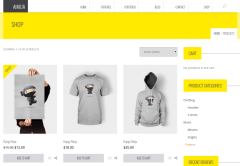 Shop Page of Amilia