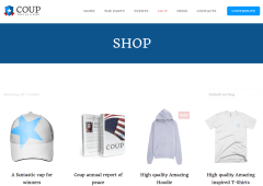 Shop Page of COUP