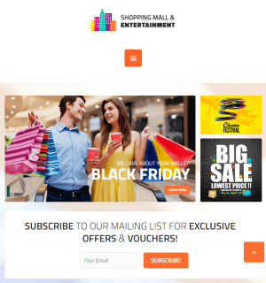 Shopping Mall - Shopping center business WordPress theme.