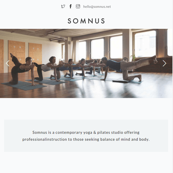 Somnus - Yoga & Fitness Studio WordPress Theme