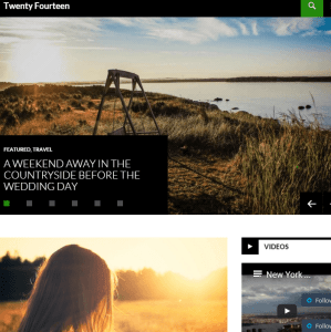 Twenty Fourteen - Responsive Magazine WordPress theme