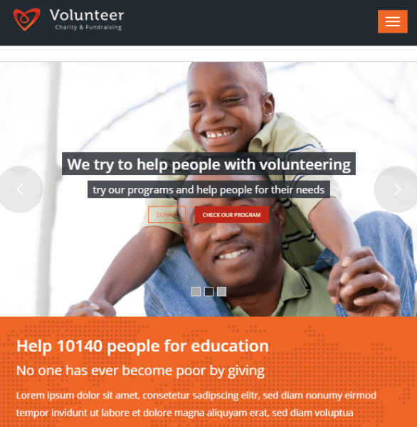 Volunteer – Charity and Fundraising WP theme