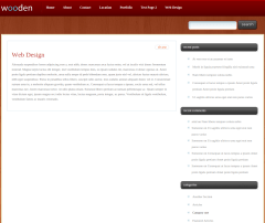 Web Design Page of Wooden
