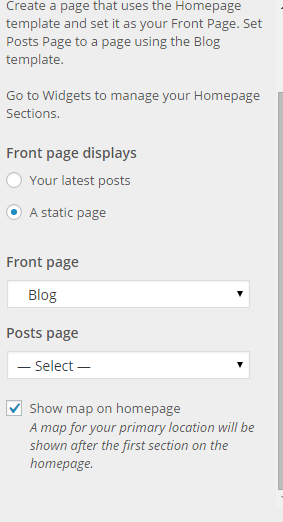 Homepage Options