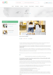 Baby and kids store – page with left sidebar