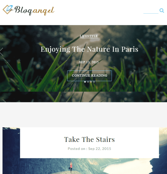 Blogangel – WP Theme for bloggers