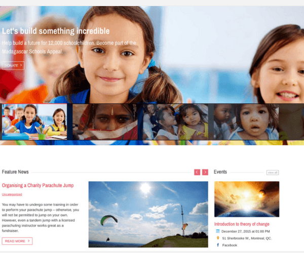 Charitas – WP Theme for Churches and Non Profit organizations.