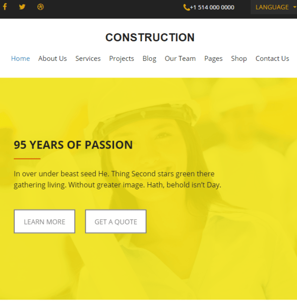 Construction – Construction and Building WP Theme.