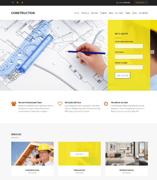 Construction - Homepage