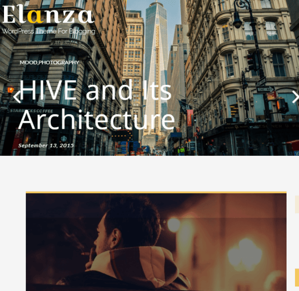 Elanza - Responsive Blogging WordPress Theme