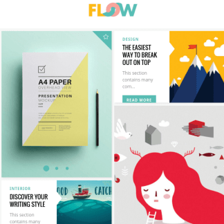 Flow - A Fresh Creative Blog Theme