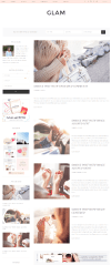 Glam Pro – page with left sidebar.