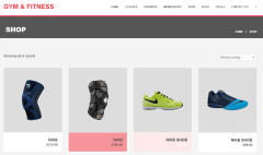 Gym & Fitness – shop page