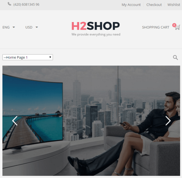 H2shop – Responsive Multipurpose WooCommerce WP Theme