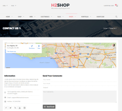 H2shop – contact us page