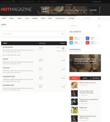 Hotmagazine – forums page