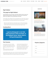 Morning Time – page with right sidebar