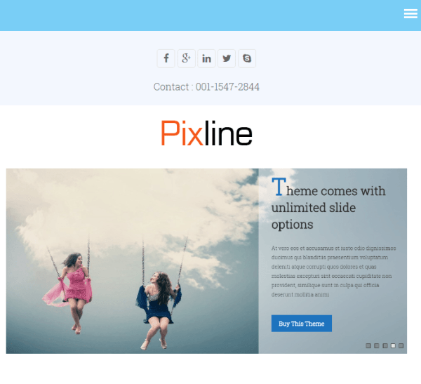 PixLine – Multipurpose WP Theme