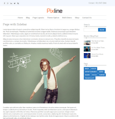 PixLine – Page with sidebar