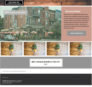 Restaurant Pro - WP Theme for Restaurants, Coffee shops etc.