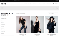 Shop Page of Kloe
