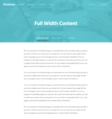 Showcase  Pro – Layout ( Full width content ).
