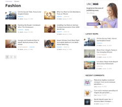 Uniqmag – blog layout