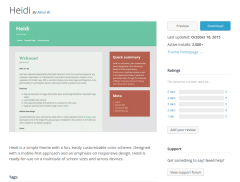 WordPress Page of Heidi