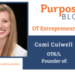 Occupational Therapist Cami Culwell featured in Purpose Therapy Box Subscriptionp