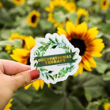 Occupational Therapy Sticker in Sunflower Field