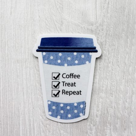 Coffee Treat Repeat Therapy Practitioner Sticker
